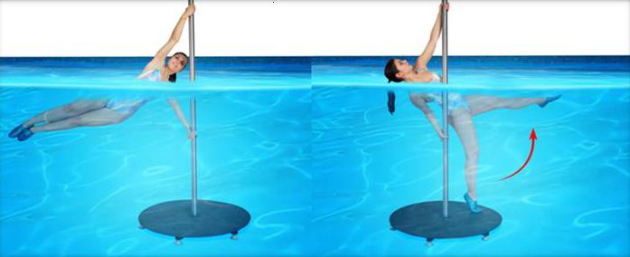 aquapole dance упражнения на пилоне под водой